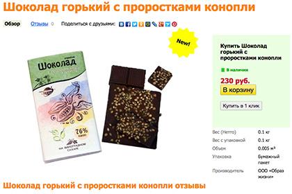 У РФ почали випускати шоколад із коноплею