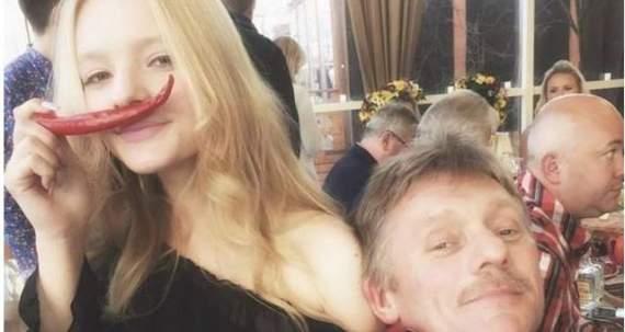 Донька Пєскова шокувала батька  виставленими в Інтернет фото