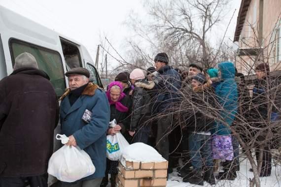 В «ДНР» у черзі за гуманітаркою помер чоловік