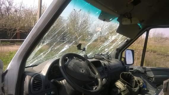 Боевики «ДНР» расстреляли автомобиль волонтеров