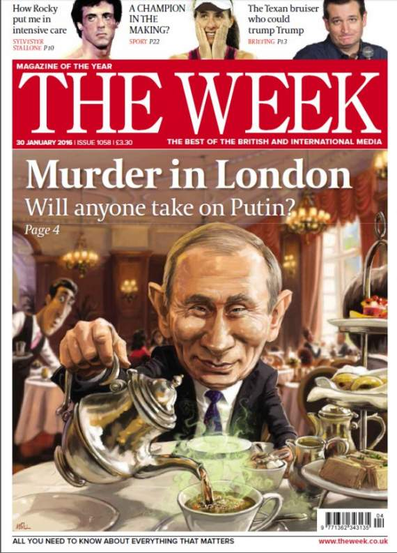 Путін-отруйник на обкладинці відомого британського журналу