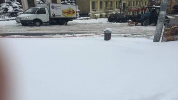 Киев замело снегом (ФОТО) занесло 1