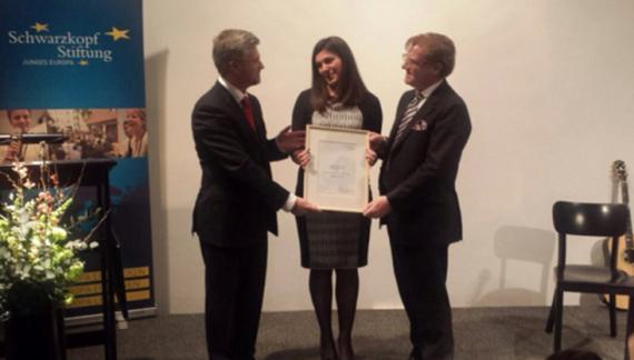 Українка отримала премію «Молода європейка — 2015»