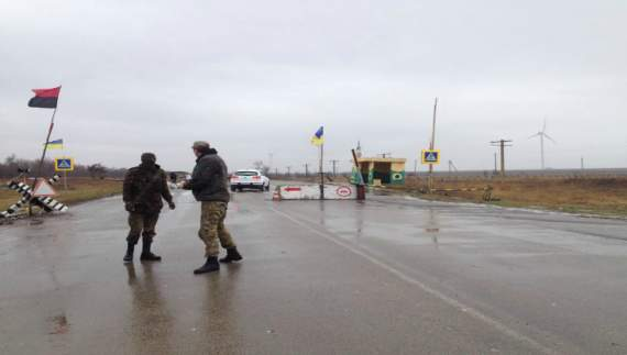 Блокада Крыма не остановлена
