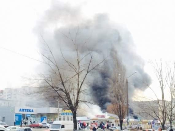 В Одесі підпалили ринок