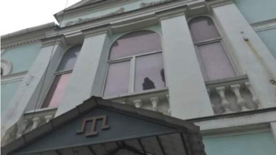 В Херсоні у будівлю Меджлісу кинули вибухівку