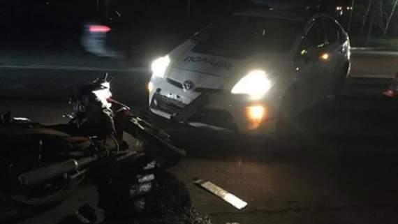 Поліцейські збили дідуся на скутері