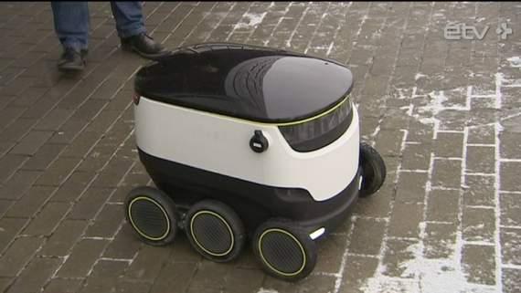 Технологическая новинка эстонцев: роботы-курьеры
