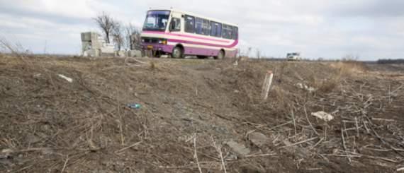 На Донеччині підірвався пасажирський автобус