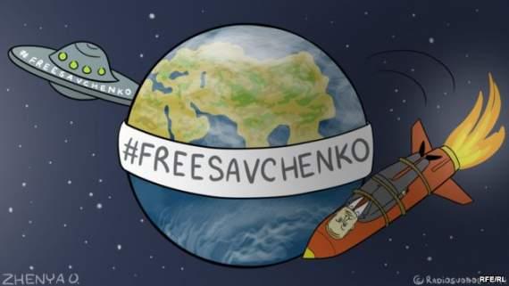 Савченко повернула агресію Росії на перші шпальти світових газет