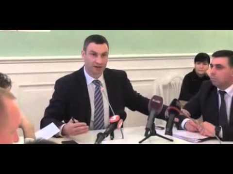 """Новый перл от Кличко: """"киевляне просыпались без разрешения…"""" /Видео/"""