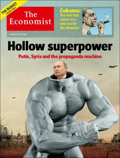 The Economist выпустило номер с обложкой, высмеивающей Путина.