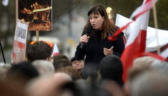 Поляки пикетировали посольство РФ с плакатами «Бог вас накажет, убийцы»