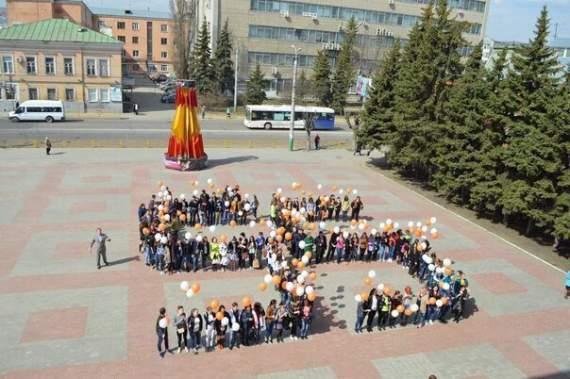 В Пензе отметили День Космонавтики свастикой /видео/