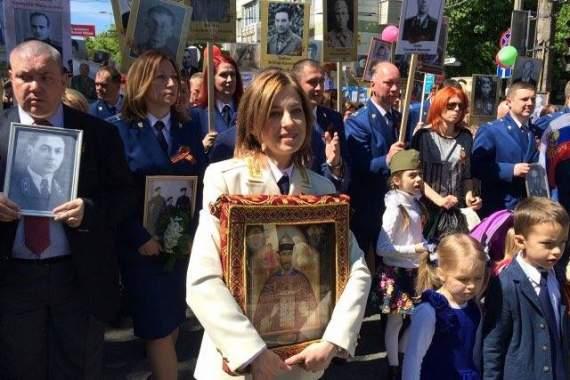 Украинская предательница Няш-Мяш вместо деда-ветерана выставила Николашку Кровавого