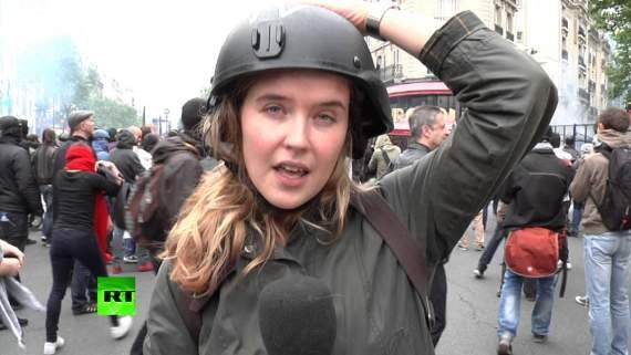 Пропагандистке кремлевского канала во Франции дали пощечину в прямом эфире (видео)