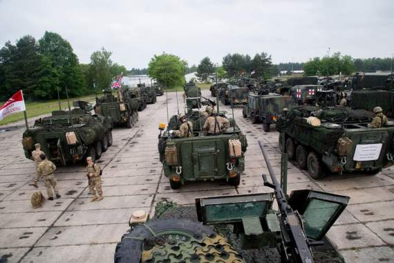Американцы тестируют военную технику в Польше (фото)