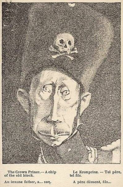 """Крон-принца"" Путина обнаружили на карикатуре начала ХХ века /Фото/"