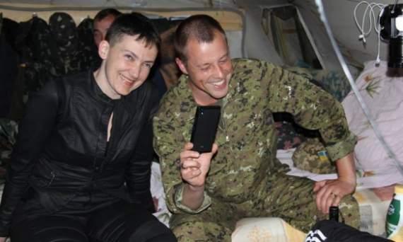 Савченко приехала в зону АТО (ФОТО)