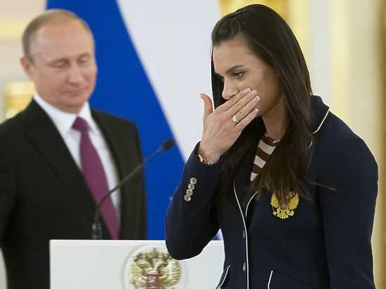 После речи Путина Исинбаева ушла заплаканной