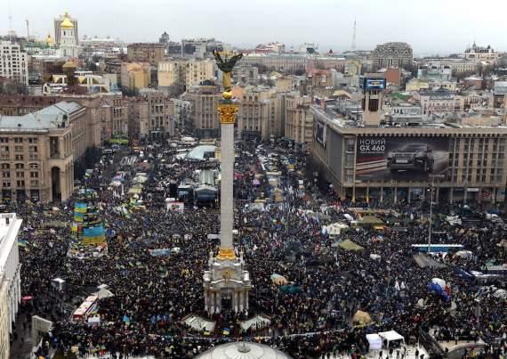 На 18:00 в Киеве объявлено начало бунта и призыв на восстание (ФОТОФАКТ)