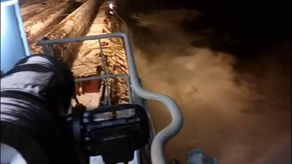 В России, при морской транспортировке, утонул многомилионный груз /видео/