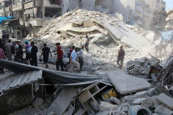 Авиация РФ сбросила на Алеппо касетные бомбы: сотни погибших и раненых