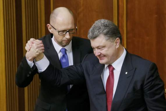 """Яценюк пригрозил Порошенко """"противотанковой ракетой"""""""