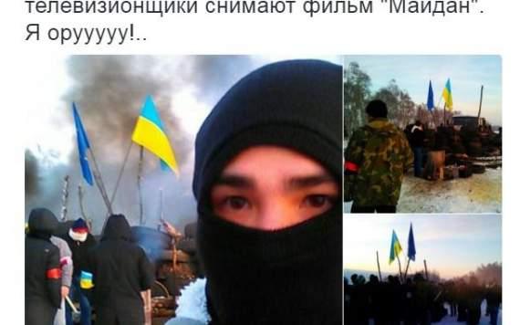 Панин в роли распятого мальчика: в сети высмеяли фото со сьемок в РФ фильма о Майдане