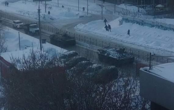 Обычное утро России… накануне протеста в столице Сибири (фото)