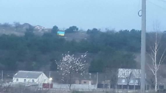 В Крыму вывесили флаг Украины