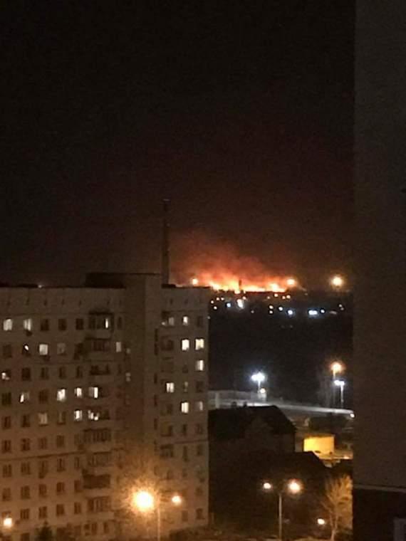 #Слухи. В Киеве на Оскорках упал вертолет