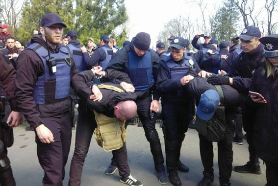 Полиция задержала 16 участников потасовки в Одессе. ФОТО