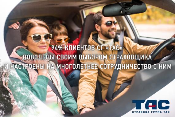 94 процента клиентов СГ ТАС довольны своим выбором страховщика