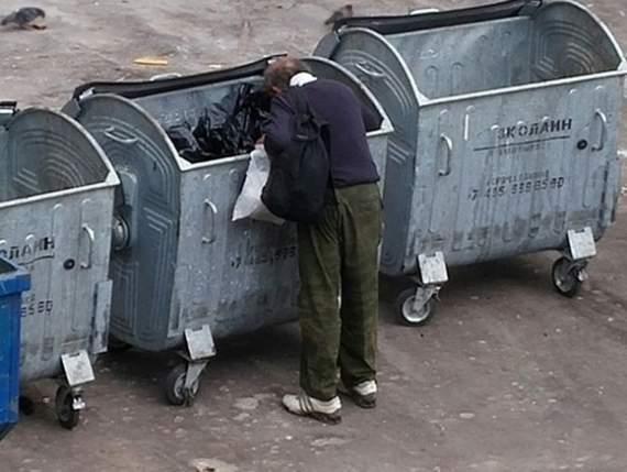 «Первый канал» предложил россиянам для экономии питаться на помойках