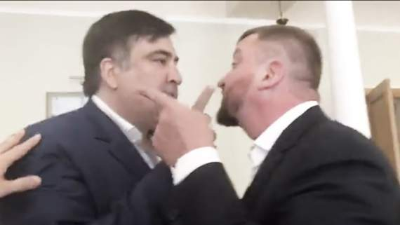 """""""Пошел вон отсюда!"""" Саакашвілі влаштував скандал у кабінеті """"міністра-рейдера"""" (ВІДЕО)"""