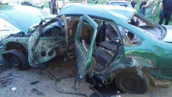 В Донецкой области взорвали машину с работниками СБУ