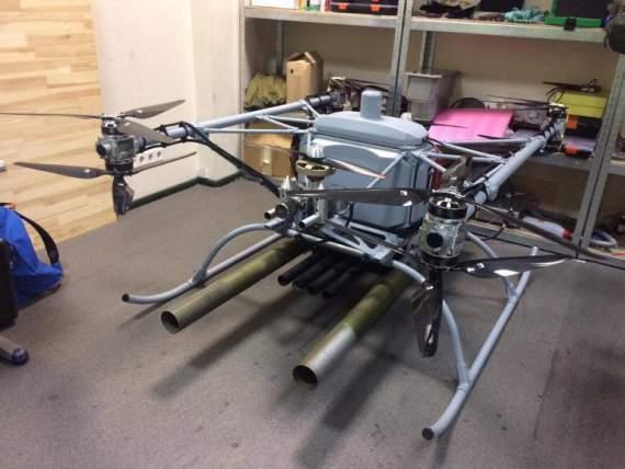 Фірма Matrix-UAV показала випробування на можливість здійснювання пусків некерованих ракет