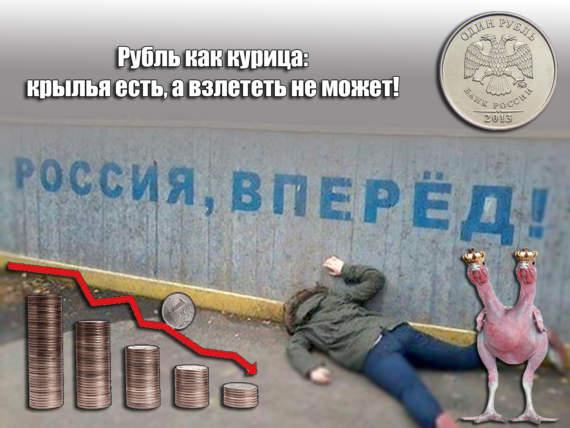 Постепенный крах рубля