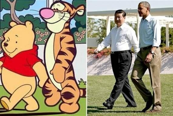 В Китае запретили Винни Пуха из-за поразительного сходства с главой КНР /Фото/