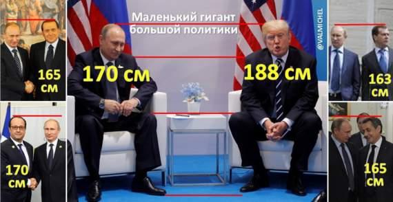 Геополитик на лабутенах: в соцсетях обсмеяли «раскладной» рост Путина