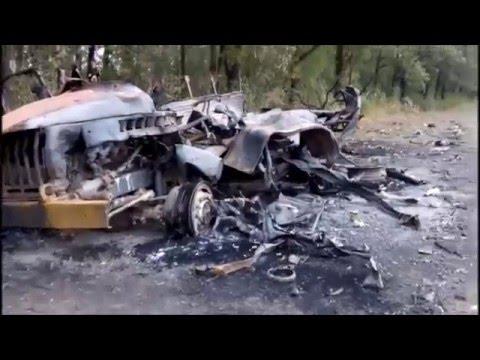 Сожженная колонна российских наемников у с. Лисичье (Архив, видео)