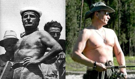 Putolini: В Европе указали на поразительное сходство пиар-кампаний Путина и Муссолини /Фото/