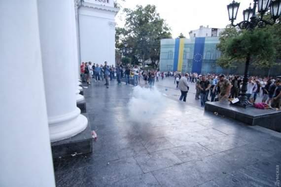 Штурм мэрии Одессы: драка и взрыв гранаты (фото)