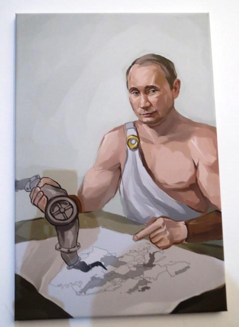 """Очередной идиотизм из Мордора — """"12 подвигов Путина"""" в картинках /Фото с выставки/"""