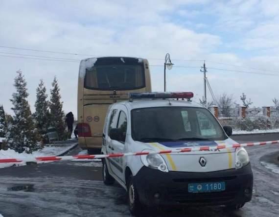 Под Львовом подорвали автобус польских туристов