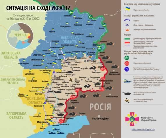 Самые горячие точки Донбасса на данный момент