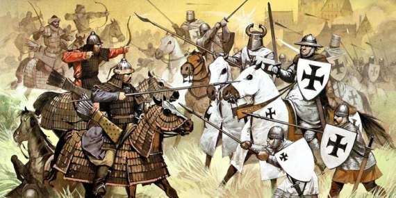 Орды Батыя против европейских рыцарей