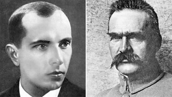 Бандера и Пилсудский — двойной портрет в интерьере сегодняшнегодня
