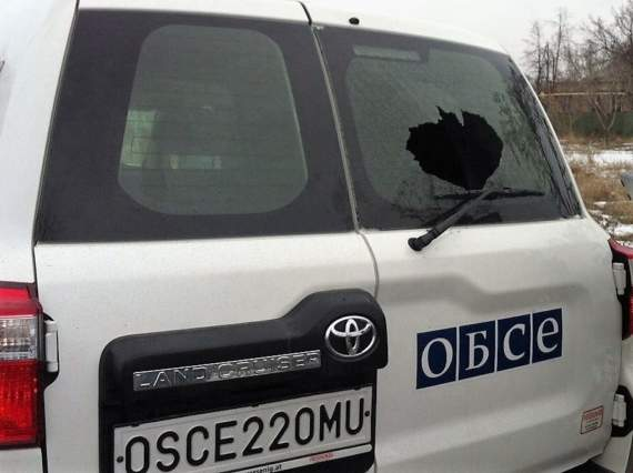 Боевики «ДНР» обстреляли ОБСЕ.
